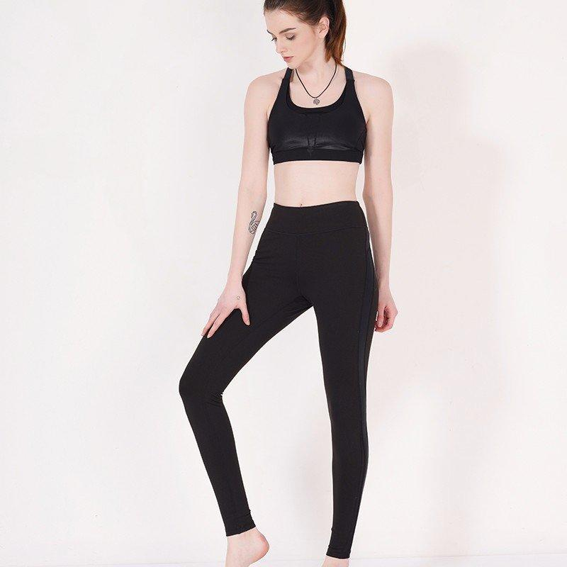 Black mesh yoga pants brands Y1911P02