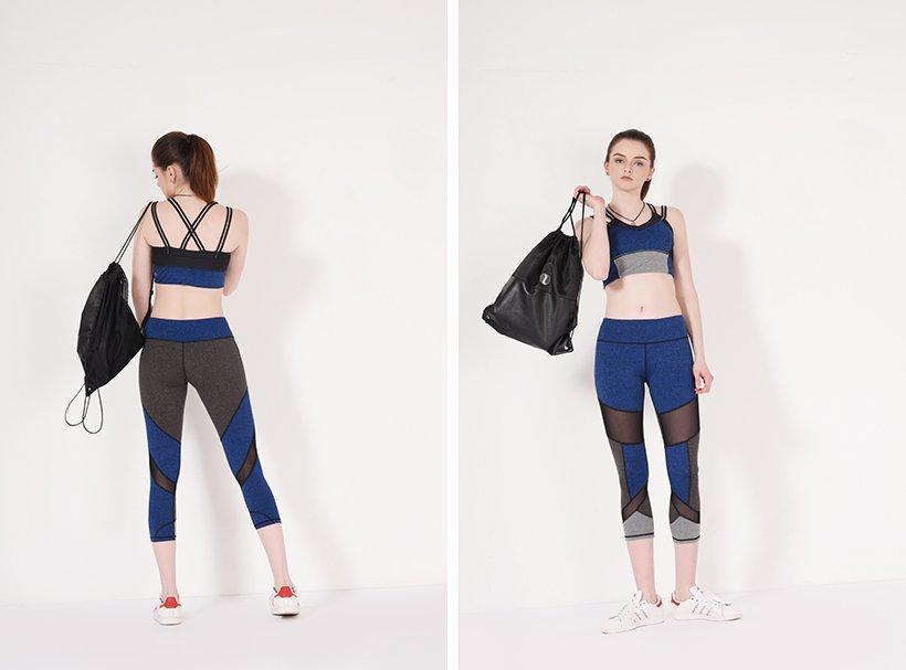 INGOR durability maroon yoga leggings with four needles six threads for girls-1