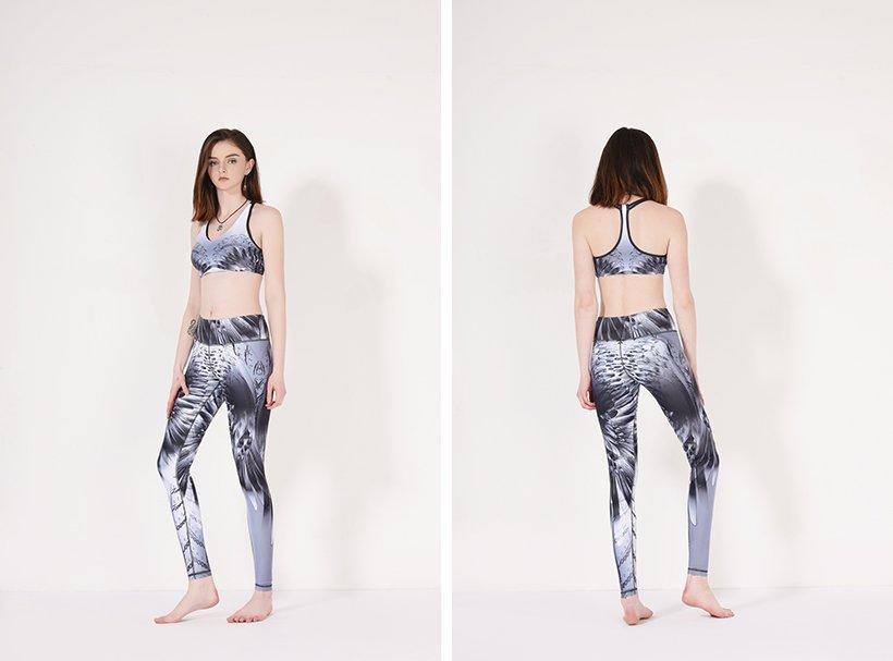 INGOR fitness patterned yoga leggings with high quality for women-1