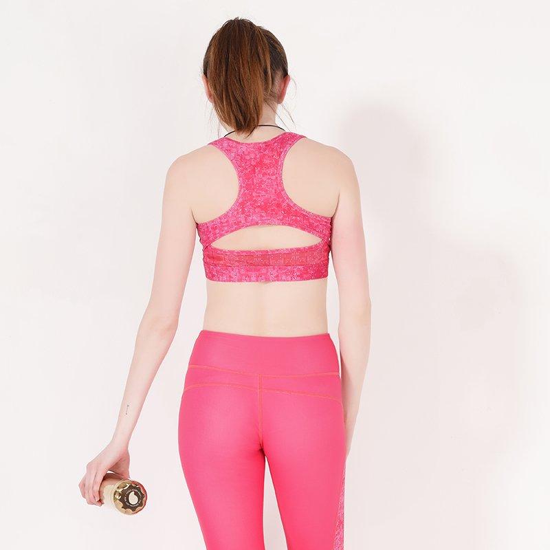 INGOR Racerback padded pink sports bra yoga Y1912B04 Sports bra image14