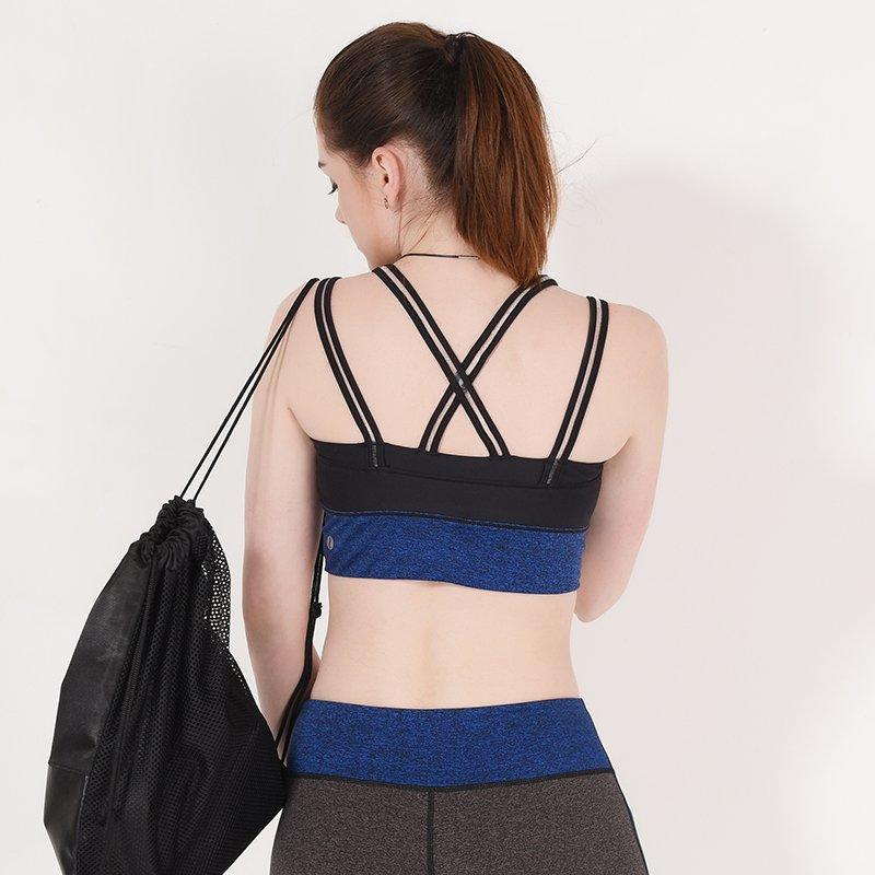 Adjustable strap running sports bra GYB16005