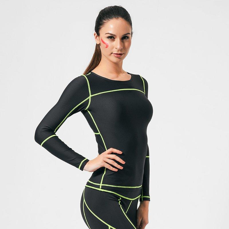 Long sleeve running compression shirts women GRC16002