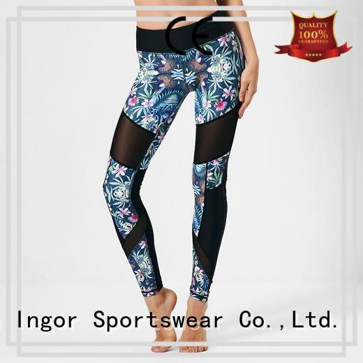 fitness plain sports yoga pants INGOR
