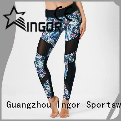 fashion plain OEM yoga pants INGOR