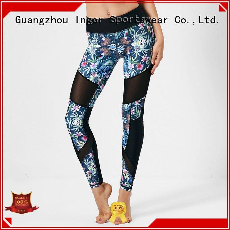 printed running INGOR Brand ladies leggings  factory