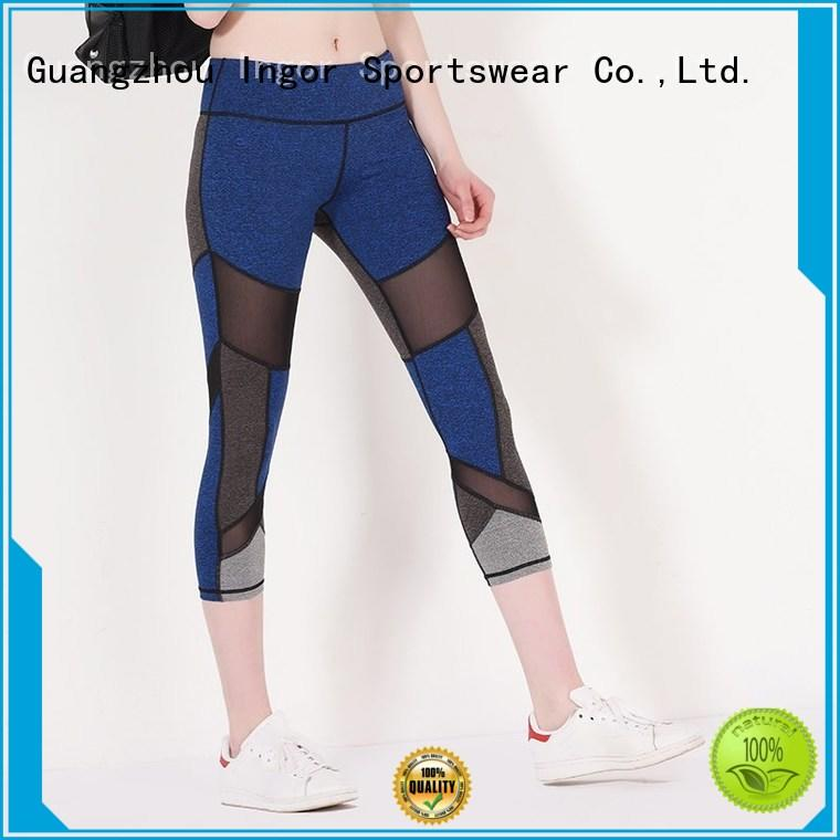 womens floral activewear plain yoga pants INGOR