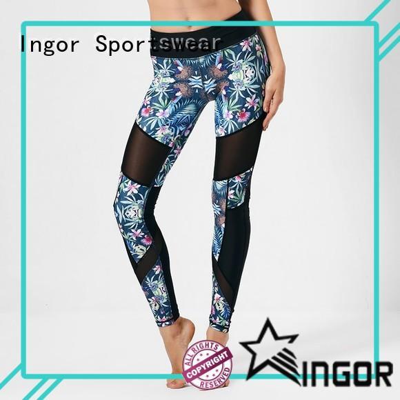 INGOR yoga navy yoga leggings with high quality at the gym