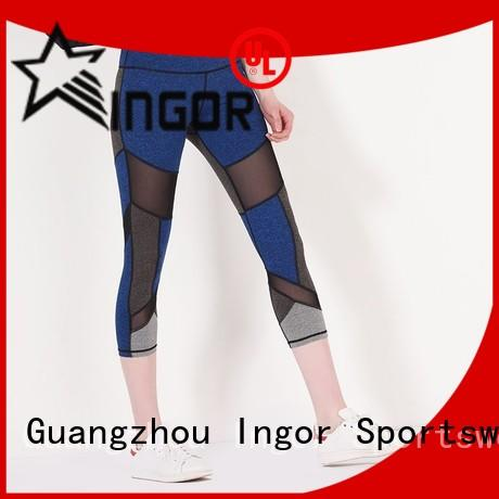 INGOR durability black and white yoga leggings with high quality for women