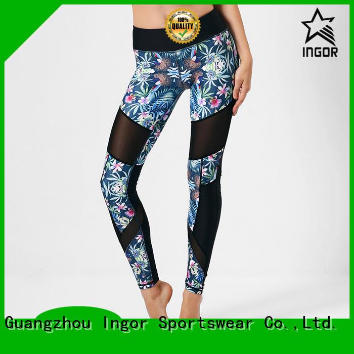 Custom running yoga pants plain INGOR