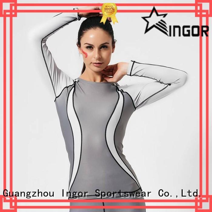 yoga compression sweatshirts for ladies women INGOR company