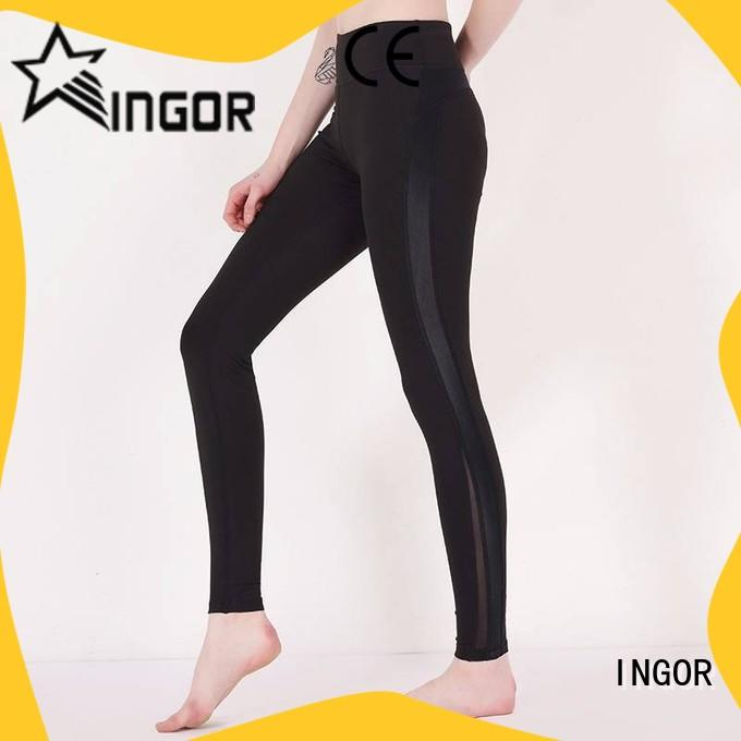 INGOR womens leggings with four needles six threads for ladies