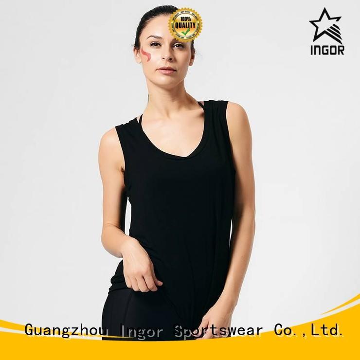 INGOR Brand yoga fashion running custom women's workout tank tops