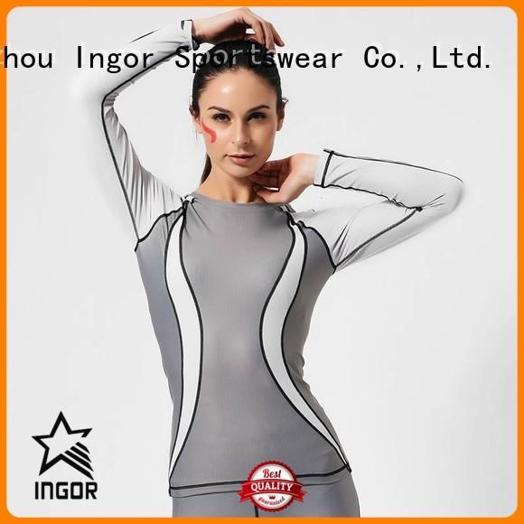 women Custom sweatshirt compression Sports sweatshirts INGOR sleeve