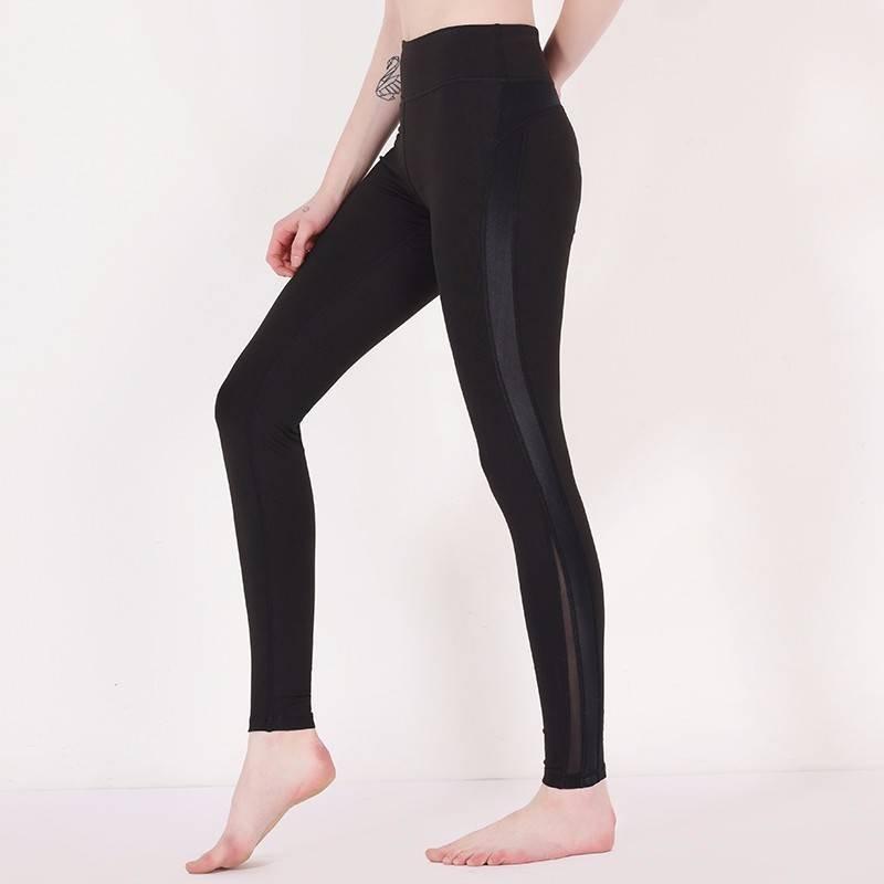 INGOR Black mesh yoga pants brands Y1911P02 Leggings image17