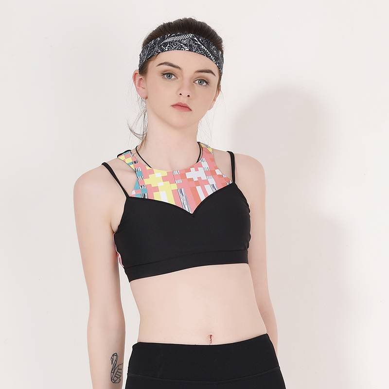 INGOR Ladies high neck sports bra top Y1913B08 Sports bra image17