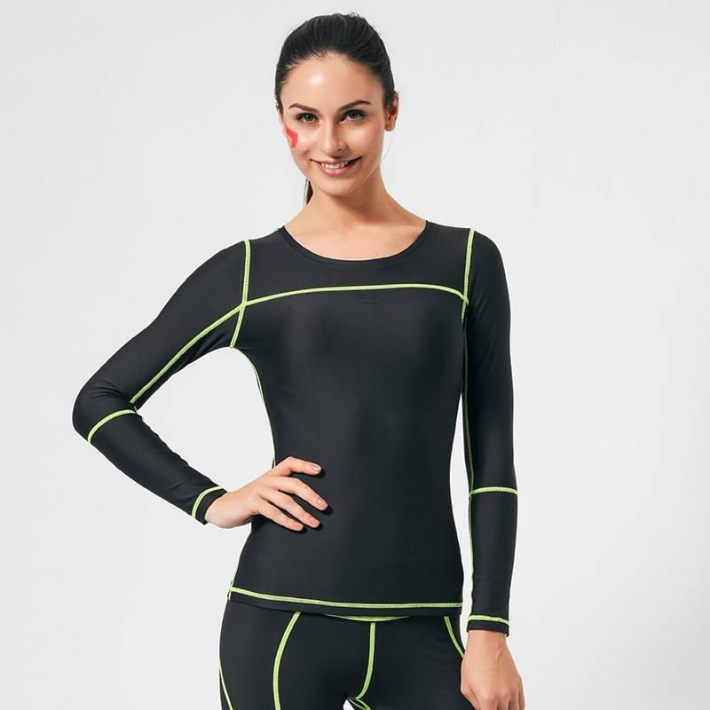 Long sleeve running compression shirts women GRC16002