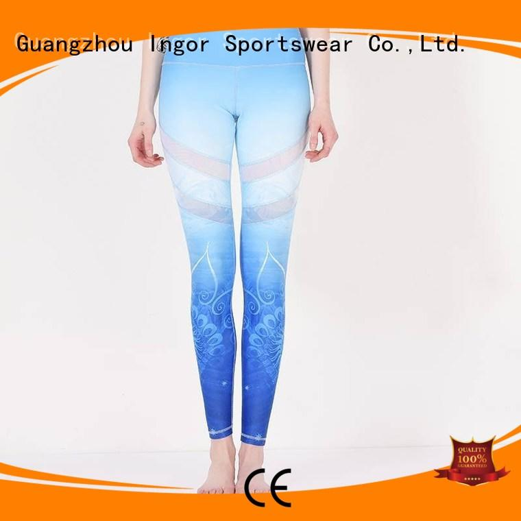 Quality INGOR Brand black yoga pants