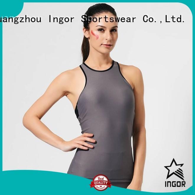 INGOR Brand bodybuilding personalized spandex custom women's workout tank tops
