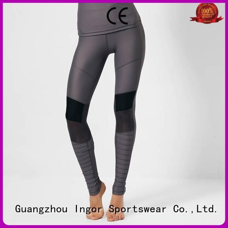 INGOR Brand blue fashion yoga pants manufacture