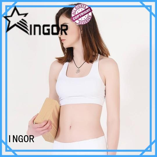 INGOR sexy pink red sports bra on sale for women