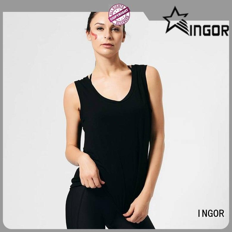 INGOR tops tank tops for women with racerback design at the gym