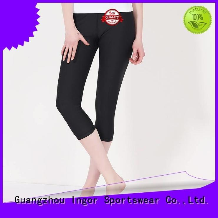 INGOR patterned black yoga pants