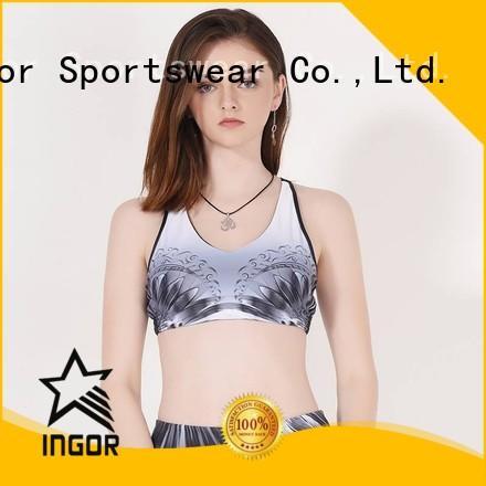 ladies bras running neck INGOR Brand sports bra supplier