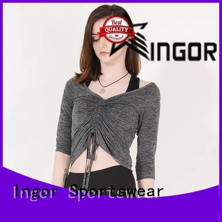 INGOR anti-UV modern sweatshirt with drawstring design for ladies
