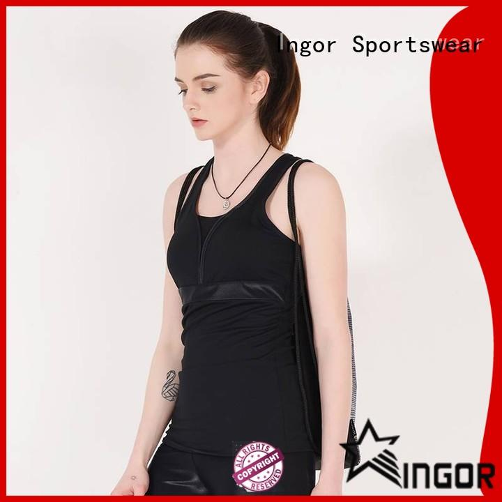 INGOR soft yoga tops with high quality for sport