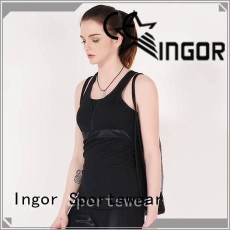 INGOR mesh crop tank with high quality for sport