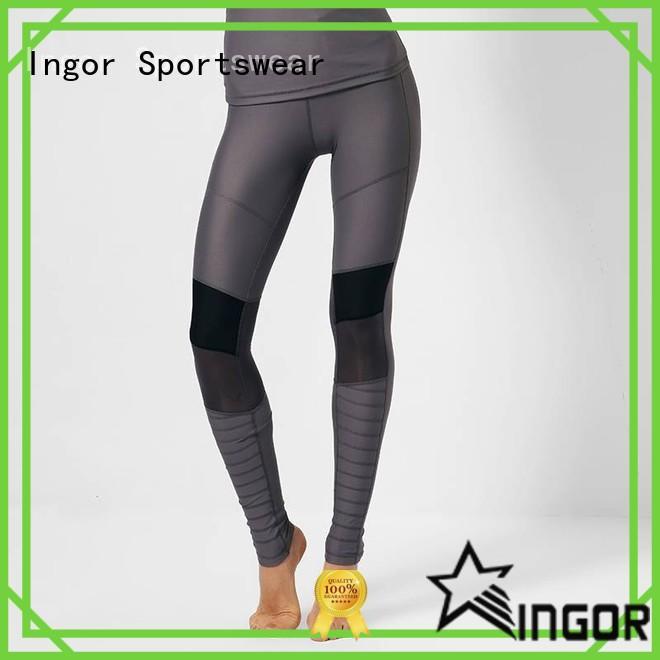 INGOR convenient good yoga leggings with four needles six threads for yoga