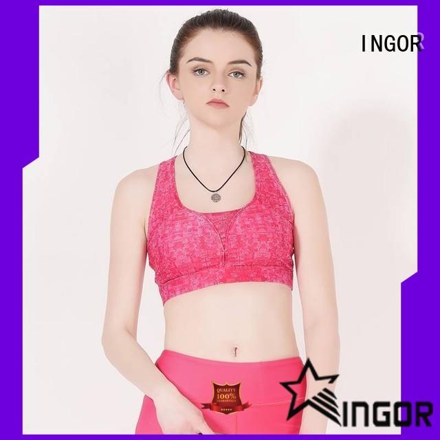 INGOR neck women's sports bra with high quality for women