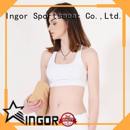 medium performance running strap colorful sports bras INGOR Brand