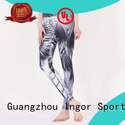 fitness yoga capri leggings with high quality for girls INGOR