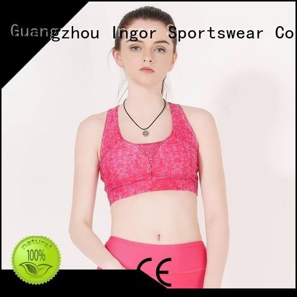 INGOR Brand blue white colorful sports bras workout supplier