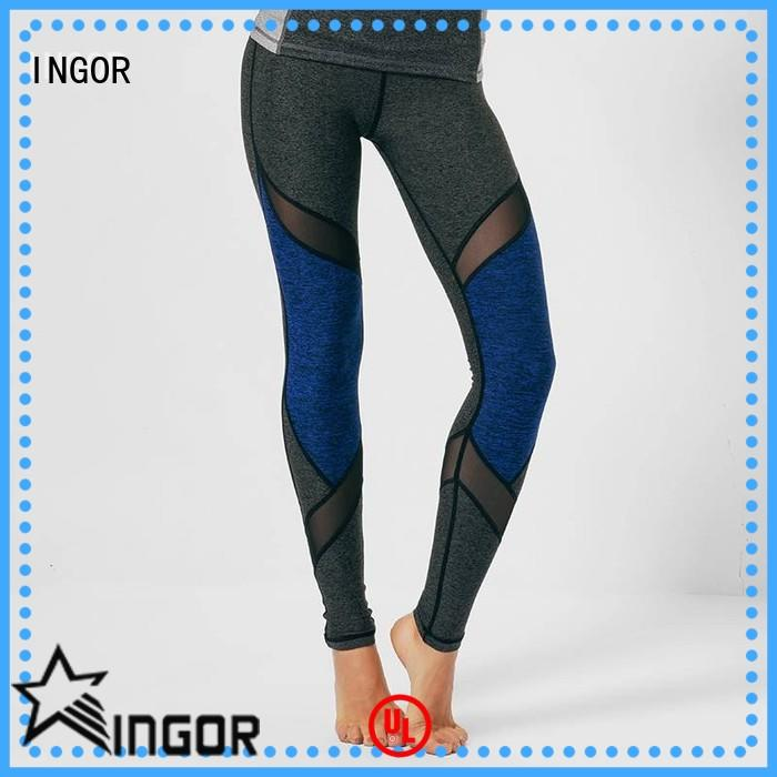 fitness yoga leggings pants with four needles six threads for girls