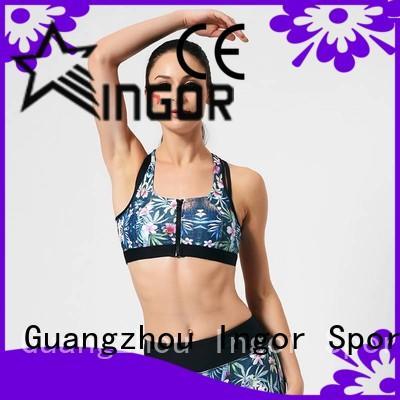 tops pink fashion INGOR Brand sports bra supplier