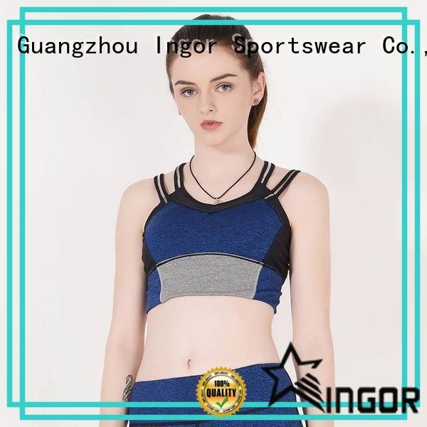 front longline padded sports bra women INGOR