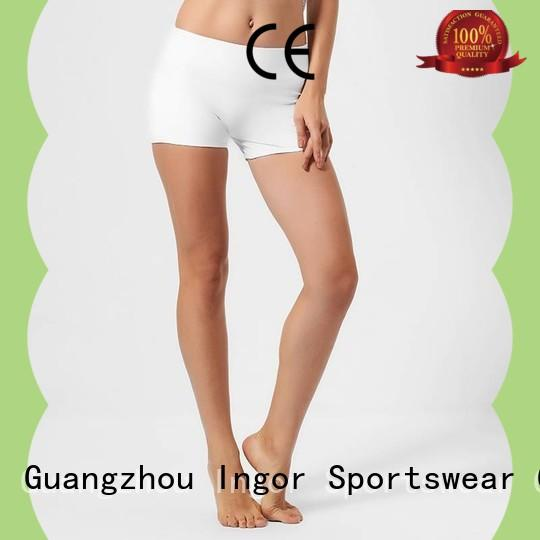 womens womens shorts white at the gym INGOR