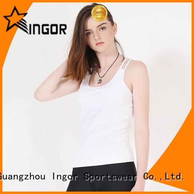 women yoga women's workout tank tops lycra mesh INGOR Brand