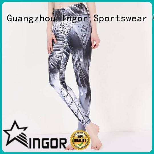 leggings sports with four needles six threads for girls