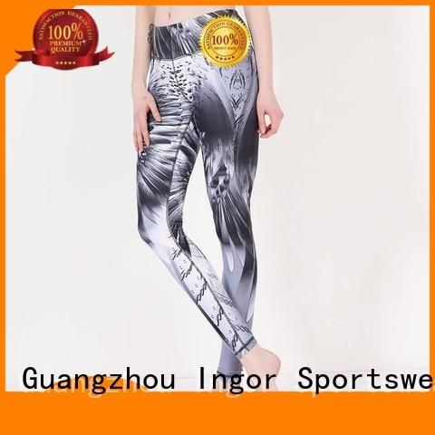 INGOR convenient yoga capri pants with high quality for girls