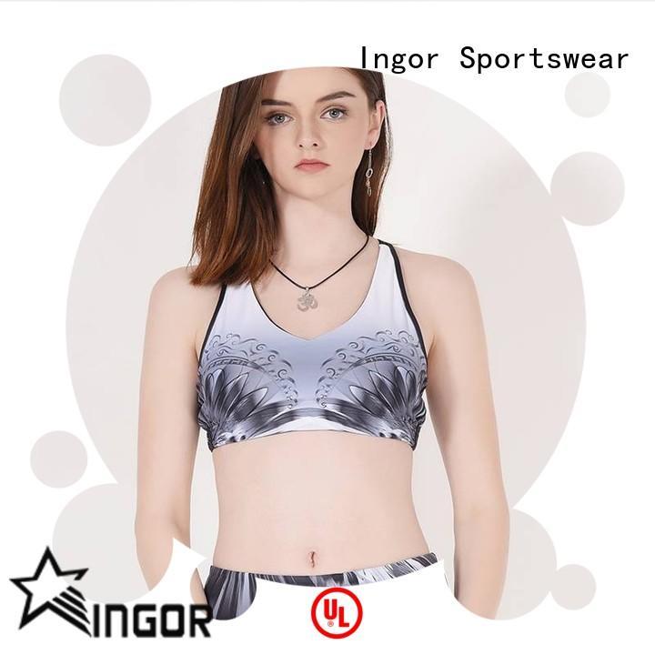 INGOR breathable burgundy sports bra on sale for sport