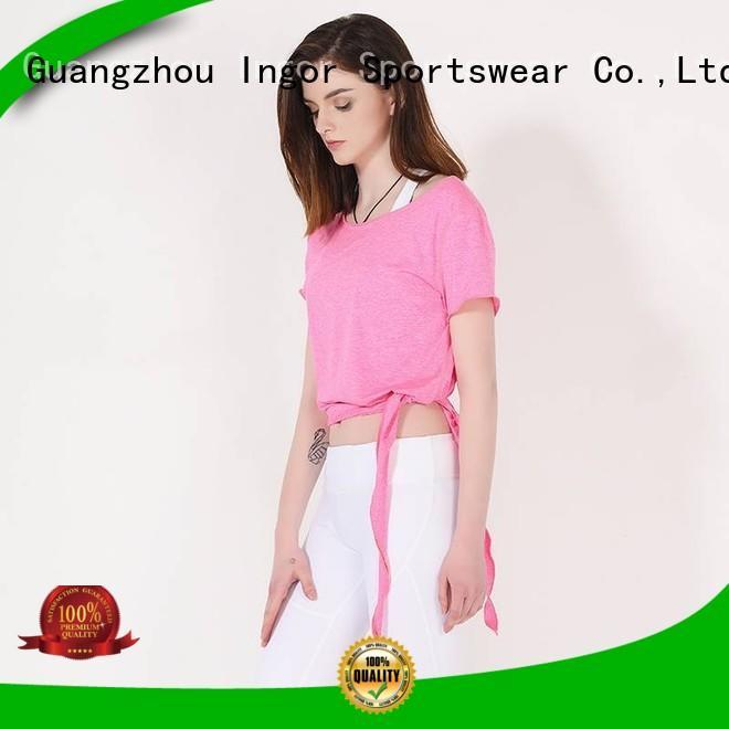 INGOR Brand sports personalized shirts custom women's workout tank tops