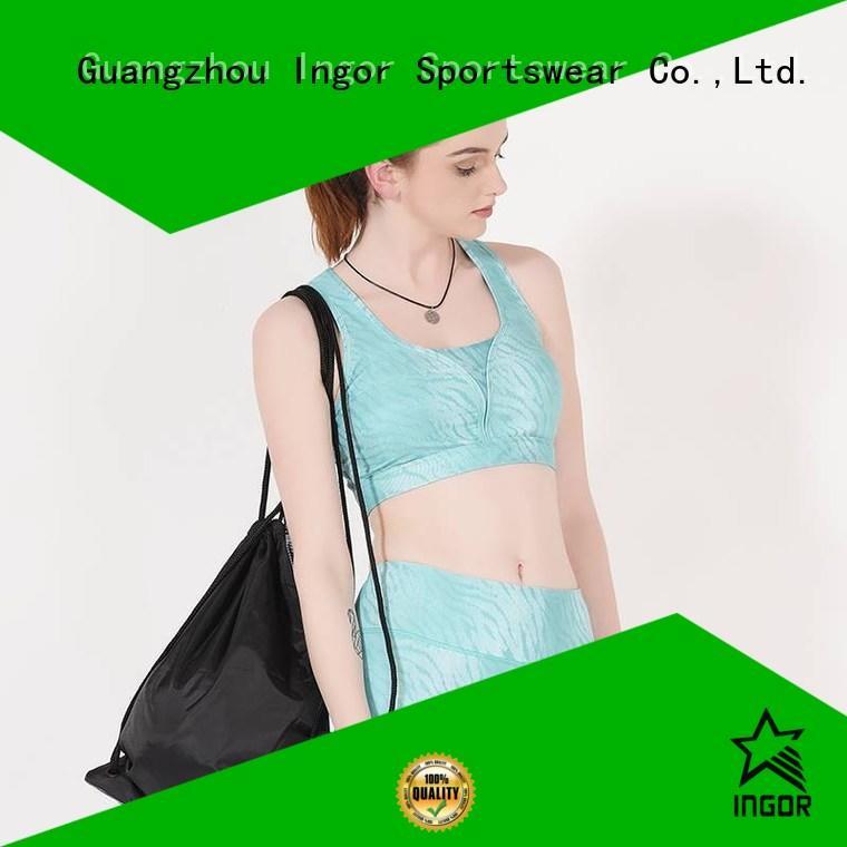 colorful sports bras racerback support INGOR Brand