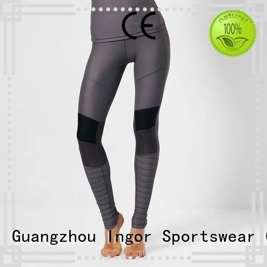 INGOR Brand activewear tights ladies leggings  plain supplier