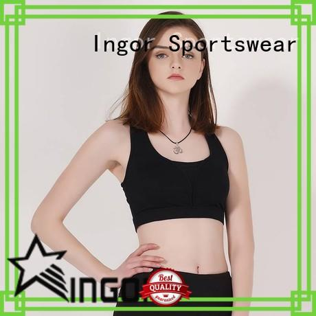 INGOR breathable light blue sports bra with high quality for sport