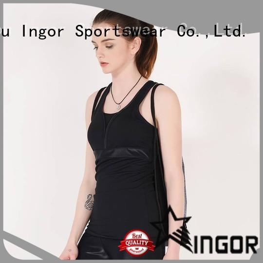 INGOR top yoga tops with racerback design for girls