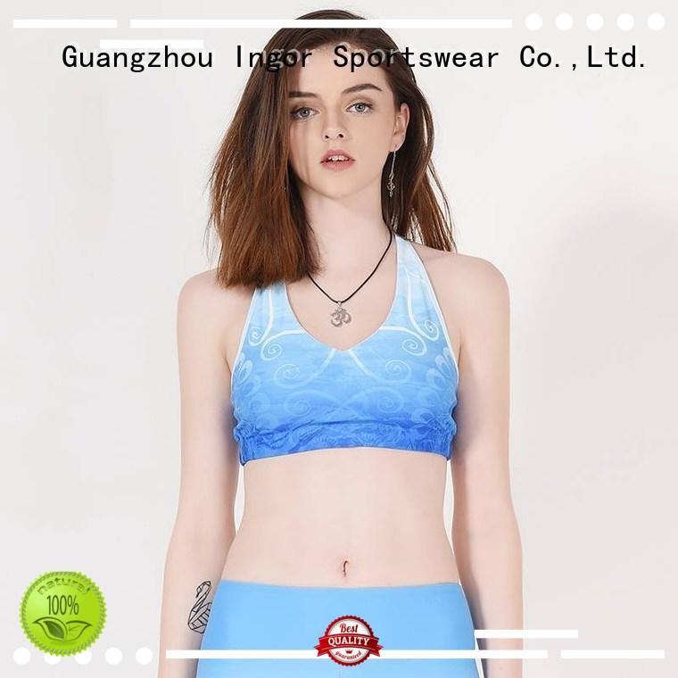 colorful sports bras strap burgandy sports bra INGOR Brand
