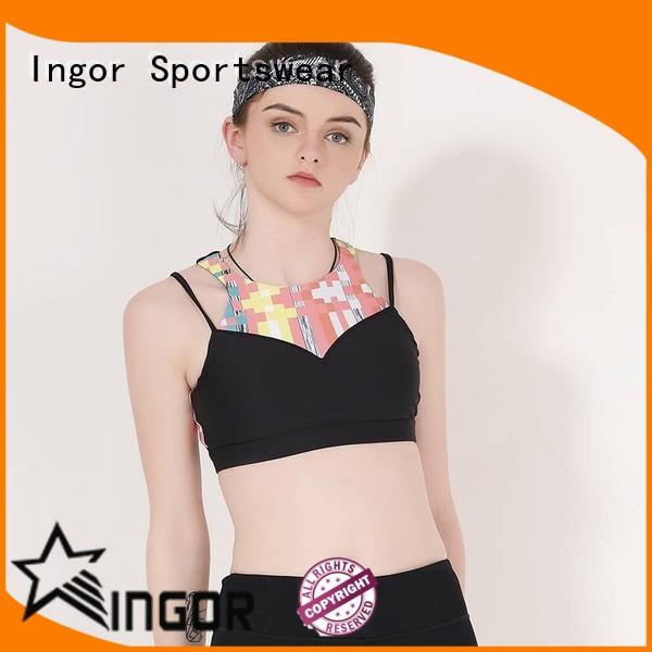 INGOR sexy supportive sports bras for running with high quality at the gym